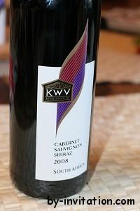 KWV Cabernet Sauvignon Shiraz 2008