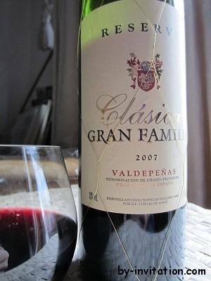 Gran Familia Clasica Valdepeñas Reserva 2007