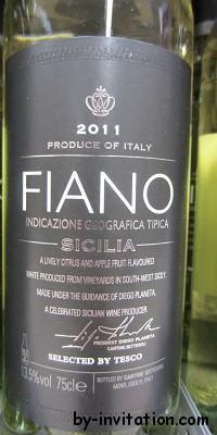Fiano Sicilia 2011