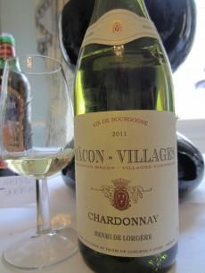 Macon-Villages Chardonnay 2011