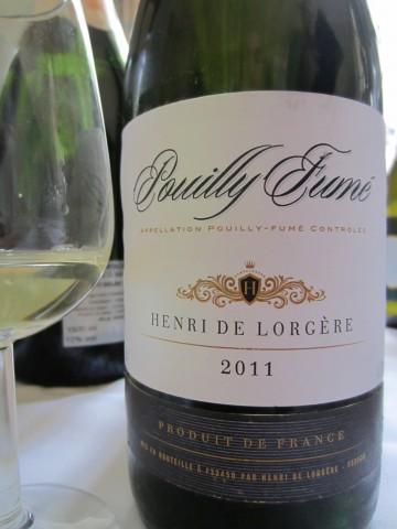 Pouilly Fumé Henri de Lorgere 2011