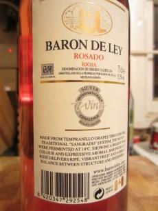 Baron De Ley Rioja 2010 - Back