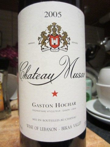 Lebanon Chateau Musar Red 2005