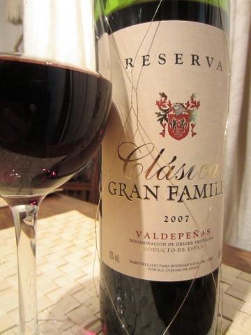 Reserva Clasica Gran Familia 2007 Valdepenas