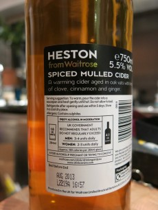Heston Spiced Mulled Cider - Back