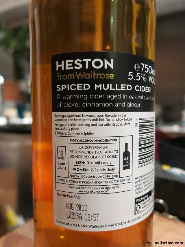 Heston Spiced Mulled Cider - Back
