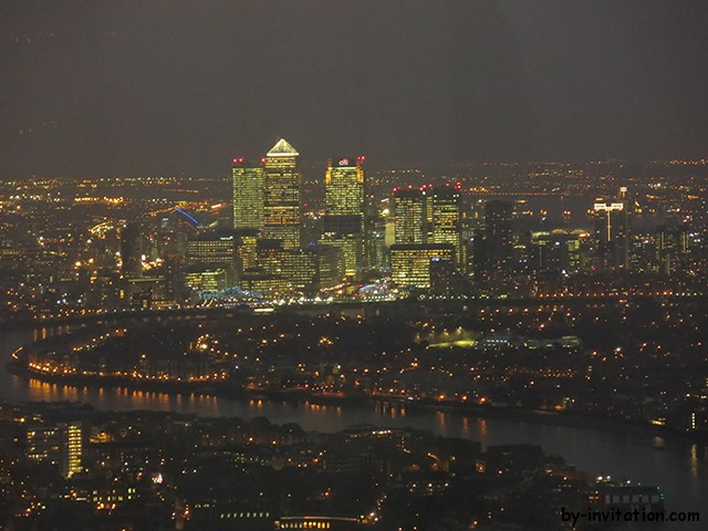 The View From The Shard London Canary Wharf at night