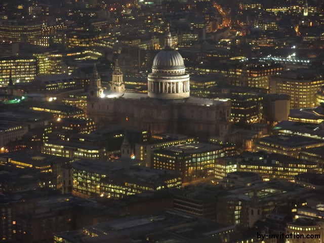 The View From The Shard London St Pauls in the night