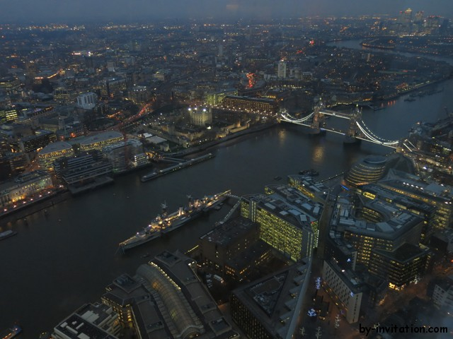 The View From The Shard London Tower Bridge Dusk