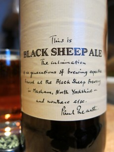 Black Sheep Ale, Crisp Dry and Bittersweet Label
