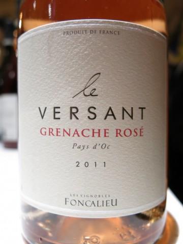 Le Versant Grenache Rosé Pays d'Oc 2011 Les Vignobles Foncalieu