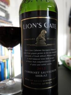 Lions Gate Cabernet Sauvignon Shiraz 2012