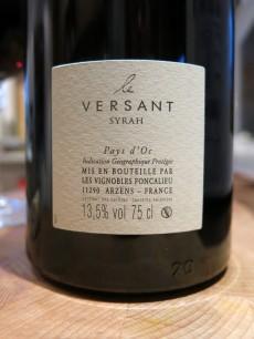Le Versant Syrah Pays d'Oc 2009 Les Vignobles Foncalieu Label