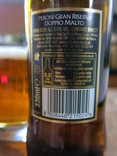 Peroni Gran Reserva Doppo Malto Label