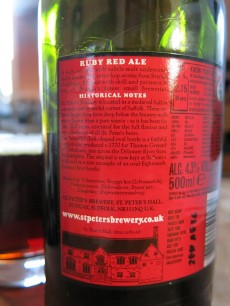 St Peters Ruby Red Ale Label