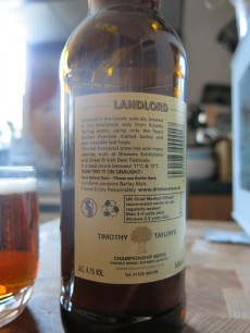 Timothy Taylor's Landlord Strong Pale Ale Label