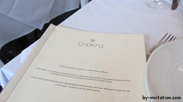 Chakra Kensington Wine List
